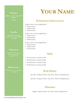 30 Basic Resume Templates - Hloomcom